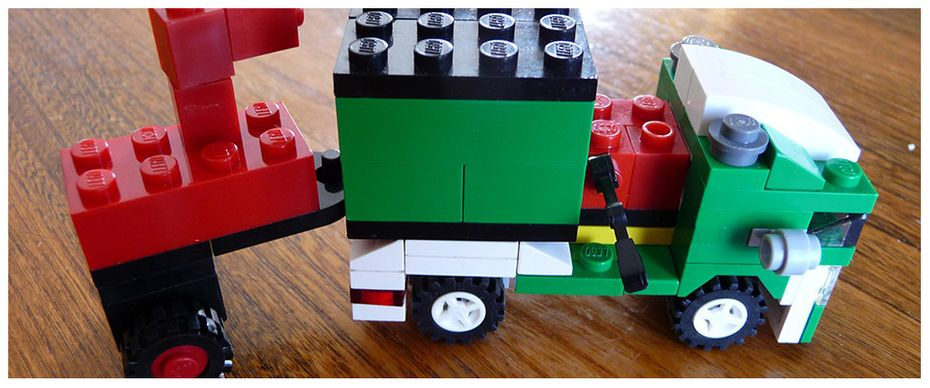 Lego creation by Brant. Truck and Chipper